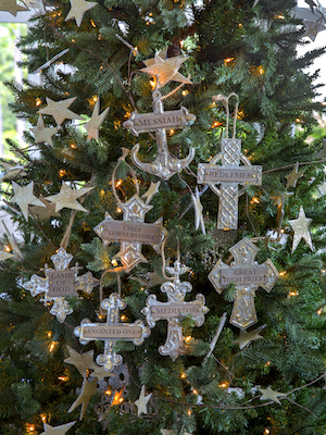 Crosses on Christmas Tree