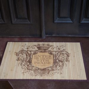 Enter His Courts Floor Mat