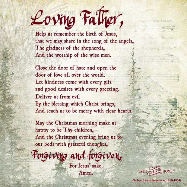 Christmas Blessing Prayer.A Christmas Prayer Ever Thine Home
