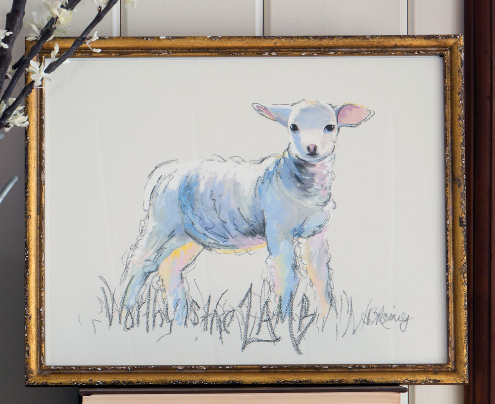 Worthy-is-the-Lamb Art Print
