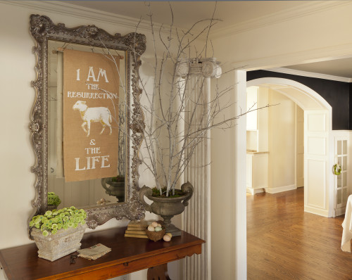 Easter banner entryway