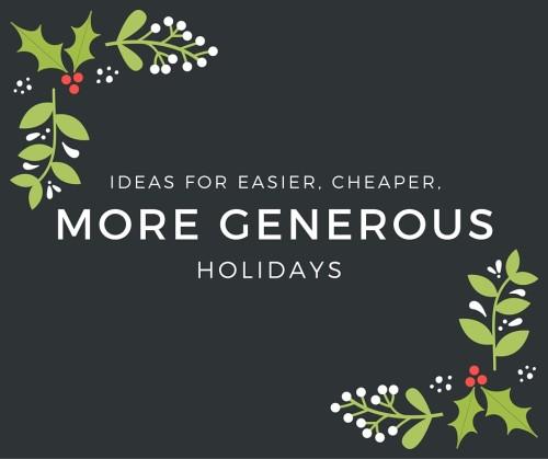 Ideas for easier, cheaper
