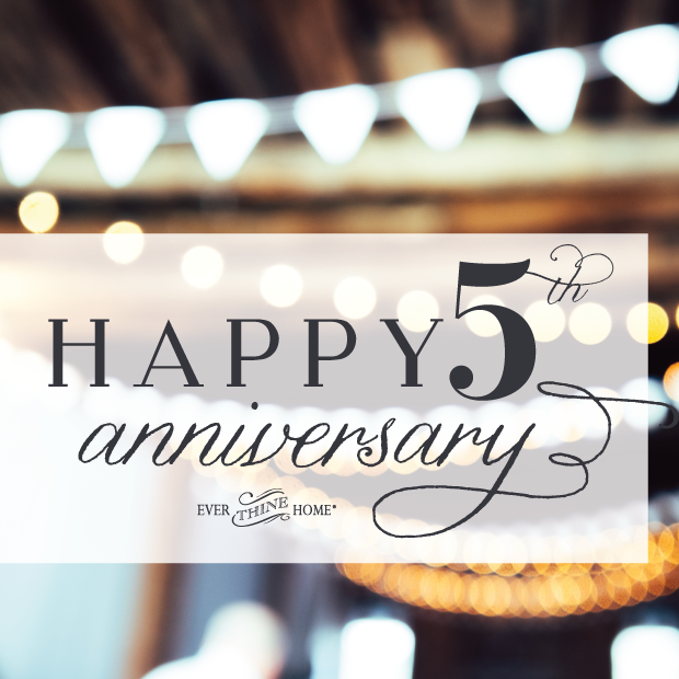 Celebrate our anniversary with FREE SHIPPING! - Ever Thine Home