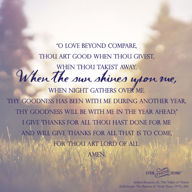 A Prayer for a New Year - Ever Thine Home
