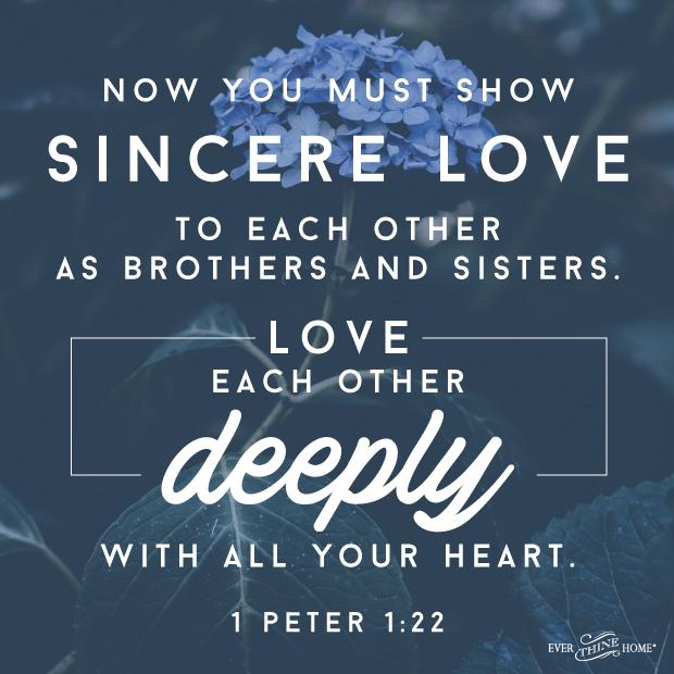 Love Each Other Deeply: Love Each Other Deeply