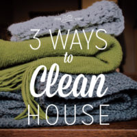 3 Ways to Clean House