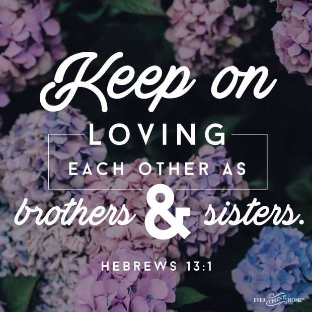 keep on loving each other...