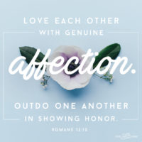 Genuine Affection: Spoonful of Sugar