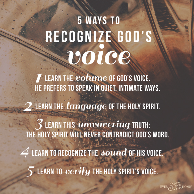 How Do I Know Its The Holy Spirit 5 Ways To Recognize Gods Voice