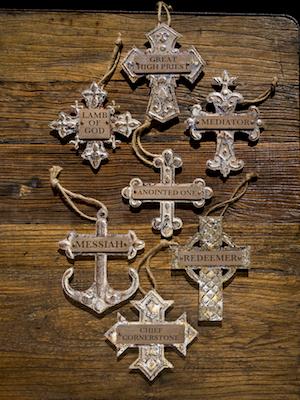 Crosses on wood