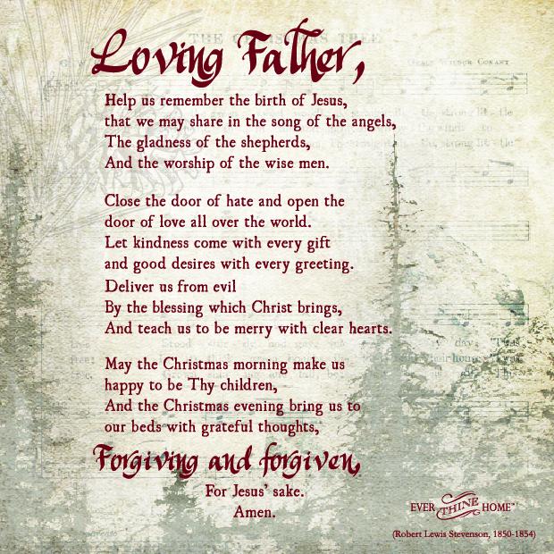 A Christmas Prayer Ever Thine Home