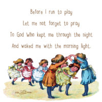Teaching Your Little Ones to Pray