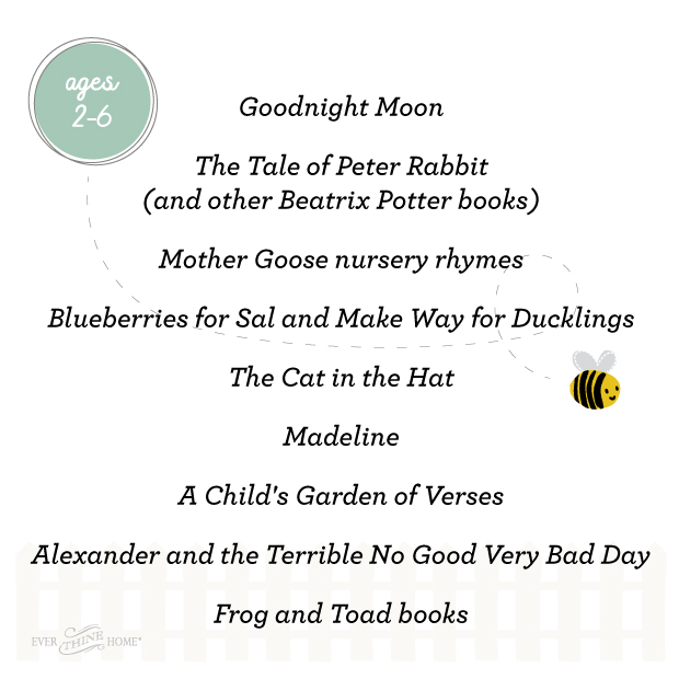 Book list for ages 2-6