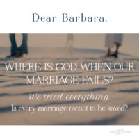 Where is God When Our Marriage Fails?