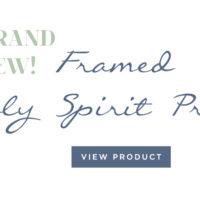 Framed Holy Spirit Prayer