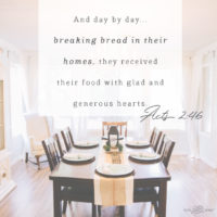 Breaking Bread in Their Homes