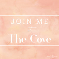 Join me at The Cove!
