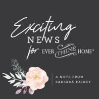 An Update from Barbara Rainey