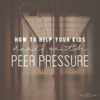 How to help your kids deal with peer pressure