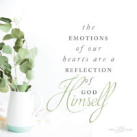 The Emotions of Our Hearts Are a Reflection of God Himself