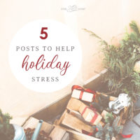 5 Posts to Help Holiday Stress