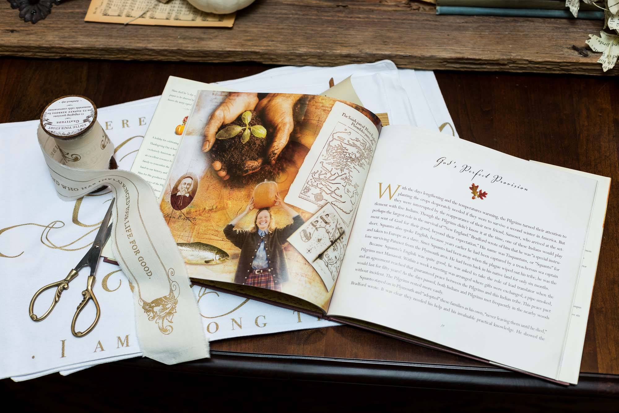 Thanksgiving Collection with book open-23